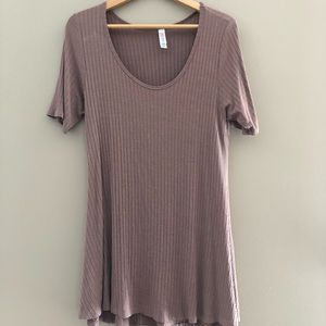 Lularoe tunic top dress ribbed medium